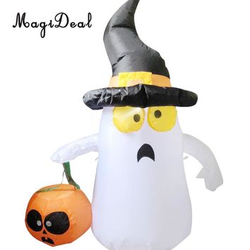 MagiDeal Halloween Inflatable Ghost and Pumpkin Airblown Indoor Outdoor Yard Decorations Prop Funny Toy 4ft EU Plug