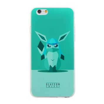 Glaceon Pokemon Phone Case For iPhone 7 7Plus 6 6s Plus 5 5s SE