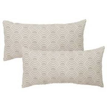 2-Piece Outdoor Lumbar Pillow Set - Threshold™ : Target