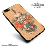 Star Wars Roses Tatto in Wood case cover for iphone, ipod, ipad and galaxy series