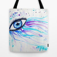 Iridescent Eye Tote Bag by Susaleena