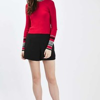 Stripe Cuff Crop Top - Sweaters & Knits - Clothing