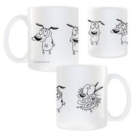 Courage the Cowardly Dog Poses White Mug | CartoonNetworkShop.com