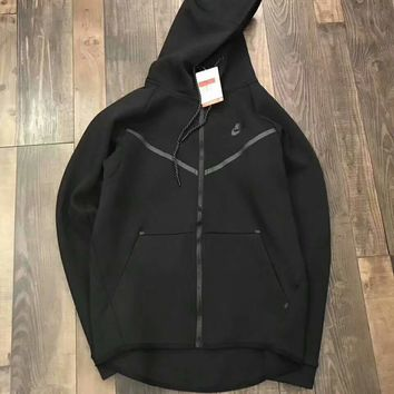 NIKE Casual Fashion Sport Logo Print Long Sleeve Zipper Hooded Coat Sweater G-A-GHSY-1