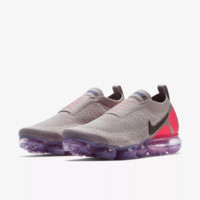 AUGUU Nike Air Vapor Max Flyknit 2018 AH7066-201 NO SHOELACE Running Shoes Grey Pink
