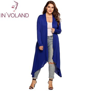 Women Cardigan Jacket Plus Size Open Front Draped Sweater
