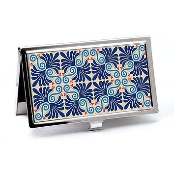 Palmetto Blue Business Card Holder