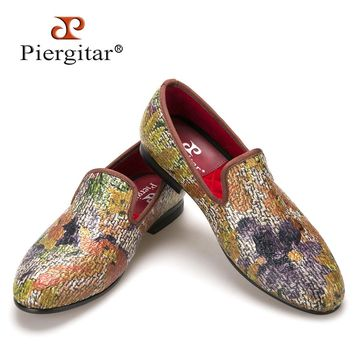 New style Painting graffiti style Mix colors men loafers