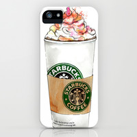 Starbucks iPhone & iPod Case by Vicky Ink.