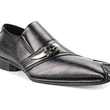Men's AM-13379 Black Dress Casual Shoes with Leather Lining