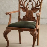 Handcarved Menagerie Deer Armchair by Anthropologie