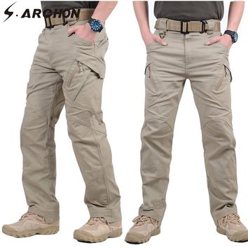 S.ARCHON IX9 Urban Military Cargo Pants Men Multi-Pockets SWAT Combat Tactical Pants Casual Man Stretch Cotton Army Trousers 3XL