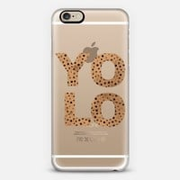 GOLD YOLO - CRYSTAL CLEAR PHONE CASE iPhone 6 case by Nika Martinez   Casetify