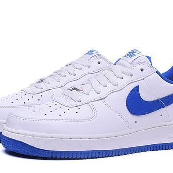 PEAPON Nike Air Force 1 Low White Blue For Women Men Running Sport Casual Shoes Sneakers
