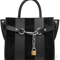 Attica paneled suede and leather shoulder bag | Alexander Wang | US | THE OUTNET