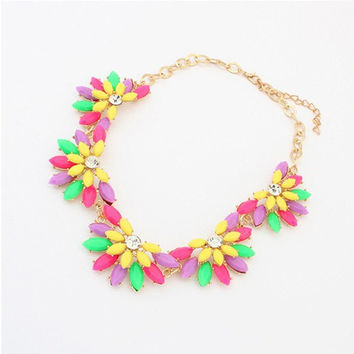 Colorful Statement Necklace, Jcrew Style Statement Bib Jewelry, Wedding Party Jewlery, Free Gift Box Packaging Available