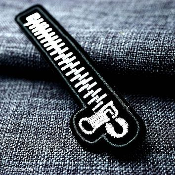 Zipper 3.0x11.8cm DIY Badge Patches Clothing Cute Cartoon Patch Fabric Sewing Embroidered Applique for Jacket Jeans Clothing