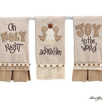 Christmas Tea Towels With Holiday Quotes