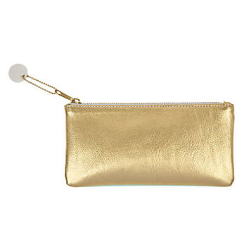 Divoga Gold Struck Pencil Pouch 4 H x 8 W x 1116 D GoldMint by Office Depot & OfficeMax