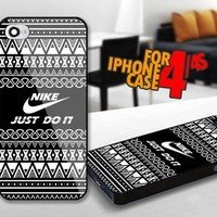 Aztec Nike Just Do it for iPhone 4 / 4s Black case