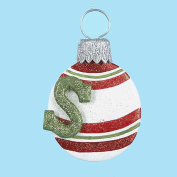 3 Christmas Ornaments - Monogram S