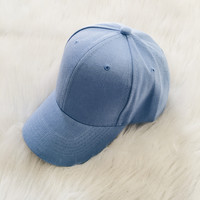 Curved Visor Cap (Blue)
