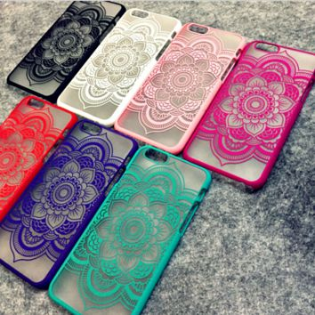 Beautiful Floral Henna Paisley Mandala Palace Flower iPhone Cases