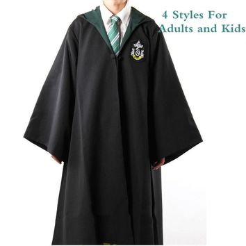 harri Hermione potter cloak Cosplay Costume Gryffindor Slytherin Ravenclaw hufflepuff Robes Ties Cloaks For Adults and Kids