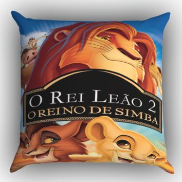 Disney The Lion King Z0703 Zippered Pillows  Covers 16x16, 18x18, 20x20 Inches