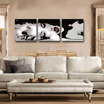 3 Panel Modern Oil Painting Home Decorative Art Picture Paint On Canvas  Prints Painting Sexy Marilyn