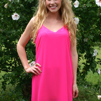 Somewhere With You Dress: Hot Pink