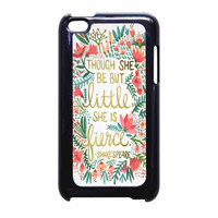 Red Flowers Though She Be But Little She Is iPod Touch 4th Generation Case