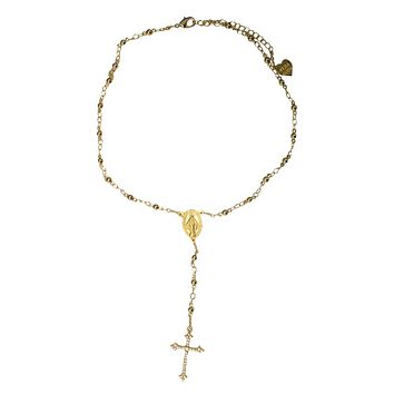 Faith in Rhinestones Rosary Choker