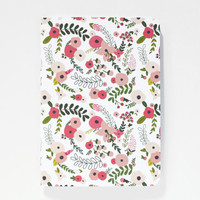 Medium Illustrated Journal | Hand Illustrated Floral Notebook : The Blooming Wreath Collection