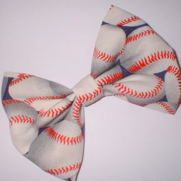 Baseball Softball Sports Hair Bow Hair Accessory Hair Clip