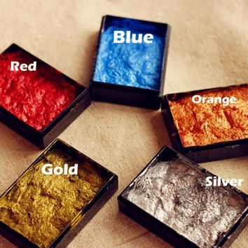 5 Pieces 5 Colors/Lot Beautiful Wax Blue/Orange/Gold/Silver Color Choose Sealing Wax Inkpad Use On the Sealing Wax
