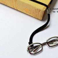 Reading Glasses Bookmark: suede cord with eyeglasses pendant (adjustable & no-slip)