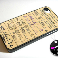 Library Due Date Card iPhone 4S Case Hard Plastic