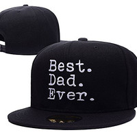 RHXING Father's Day Best Dad Ever Adjustable Snapback Embroidery Hats Caps