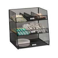 Safco Home Office Products Onyx Mesh Break Room Organizer, Black-Bl