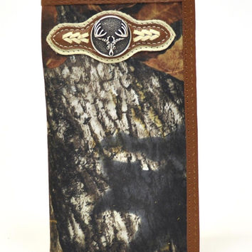 Nocona Rodeo Genuine Leather Camo Western Men's Wallet w/Concho-N54358222