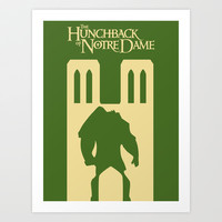 The hunckback of Notre Dame Art Print by Citron Vert