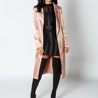 Satin Belted Duster