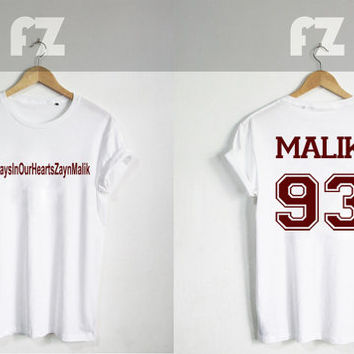 Zayn Malik #AlwaysInOurHeartsZaynMalik Shirt One Direction Shirt Tshirt T-shirt Tee Shirt Black and White Unisex Size - NK70