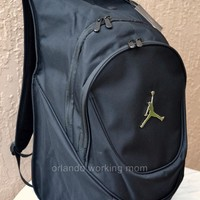 "Nike Air Jordan Backpack Jumpman Laptop 15"" Black School Book Bag Men Basketball"