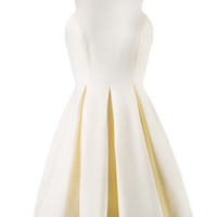 Cream White Sleeveless Skater Summer Dress