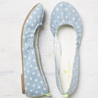 AEO Scrunched Chambray Ballet Flat