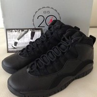 New 2005 Nike Air Jordan X Retro Sz 10 Stealth Black White 100% Authentic Steel