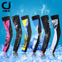 Cheji Outdoor Sport Women's Arm Sleeve Cover mtb Bike Bicycle Arm Warmer UV Sun Protection Cycling Arm Warmer manguitos ciclismo