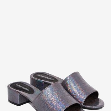 Jeffrey Campbell Beaton Leather Heel - Pewter